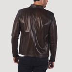 Skyline Leather Jacket // Chestnut (XL)