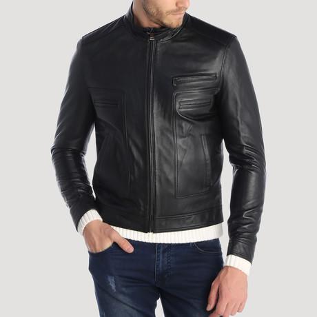 Howard Leather Jacket // Black