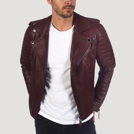 Valencia Leather Jacket // Bordeaux (XS)