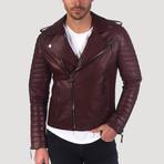 Valencia Leather Jacket // Bordeaux (3XL)
