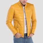 Jackson Leather Jacket // Yellow (L)
