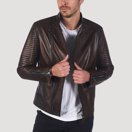 Buena Leather Jacket // Brown