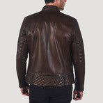 Buena Leather Jacket // Brown (XL)