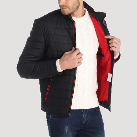 Filbert Leather Jacket // Navy (S)