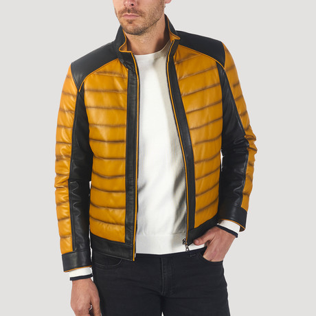 Macondray Leather Jacket // Yellow + Black (XL)