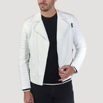 Polk Leather Jacket // White (S)