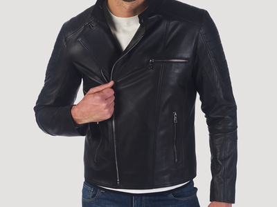 Photo of Giorgio di Mare Leather Moto Jackets Stockton Leather Jacket // Black (S) by Touch Of Modern