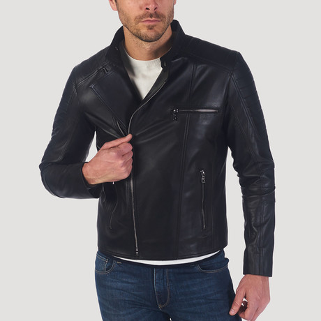 Stockton Leather Jacket // Black (M)