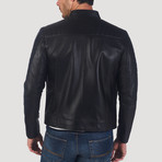 Stockton Leather Jacket // Black (XL)