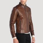 Boulevard Leather Jacket // Chestnut (XS)