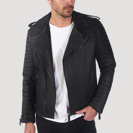Guerro Leather Jacket // Brown Taffeta (S)