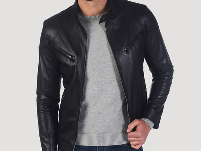Photo of Giorgio di Mare Classically Cool Leather Jackets Stanyan Leather Jacket // Black (S) by Touch Of Modern