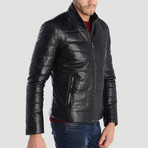 Lombard Leather Jacket // Black (S)