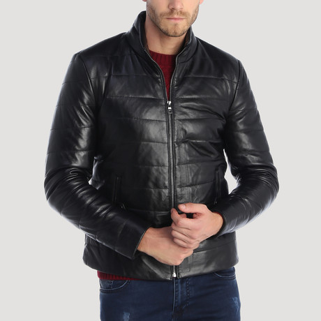 Lombard Leather Jacket // Black (XS)