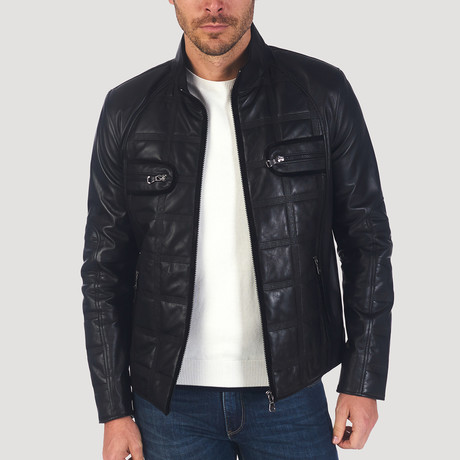 Ross Leather Jacket // Black (XS)