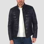 Ross Leather Jacket // Black (3XL)