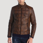 Montgomery Leather Jacket // Brown (S)