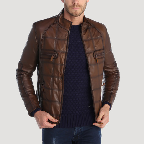 Montgomery Leather Jacket // Brown (XS)