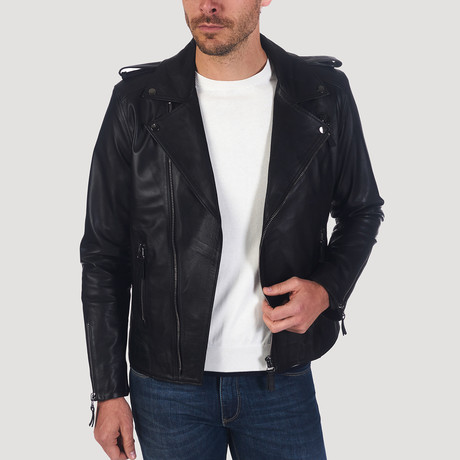 Shotwell Leather Jacket // Black