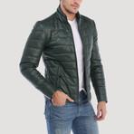 Alemany Leather Jacket // Green (3XL)