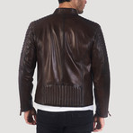 Sutter Leather Jacket // Brown (S)