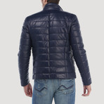 Columbus Leather Jacket // Navy (XL)