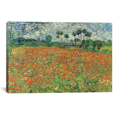 "Field Of Poppie // Vincent van Gogh // 1890 (18""W x 26""H x 0.75""D)"