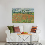 "Field Of Poppie // Vincent van Gogh // 1890 (18""W x 26""H x 0.75""D)"