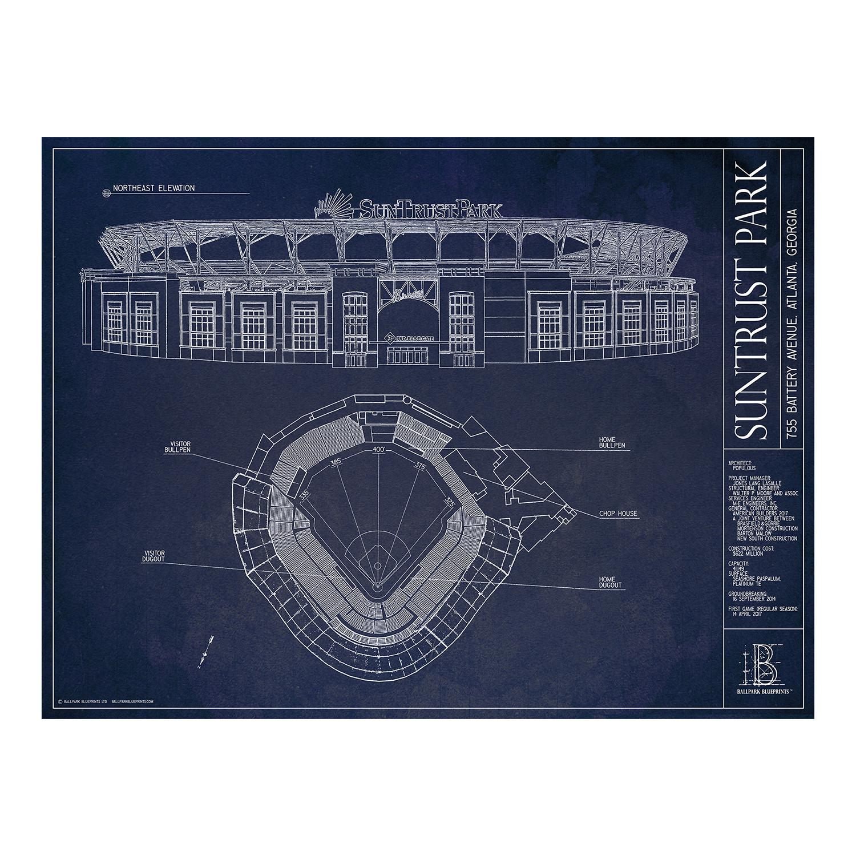 Suntrust park atlanta braves ballpark blueprints touch of modern suntrust park atlanta braves malvernweather Gallery