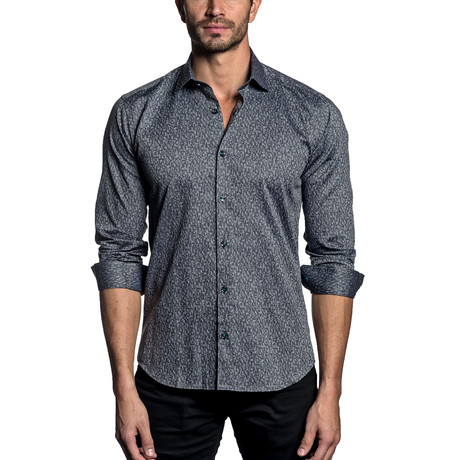 Woven Button-Up // Charcoal (S)