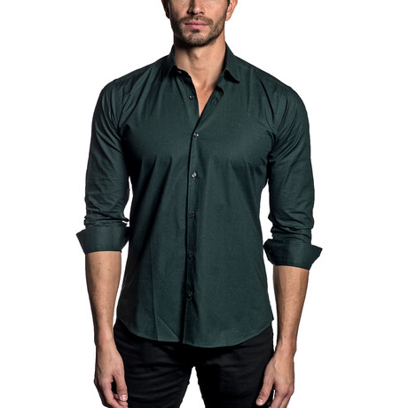 Woven Button-Up // FOREST GREEN (S)