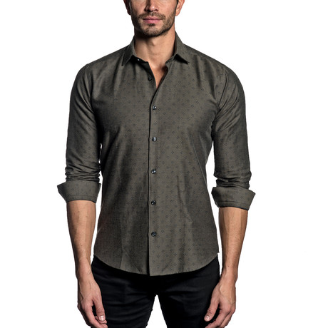 Woven Button-Up // OLIVE (S)