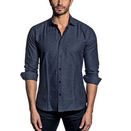 Woven Button-Up // NAVY I (S)