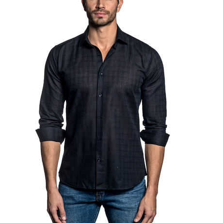 Woven Button-Up // NAVY II (S)