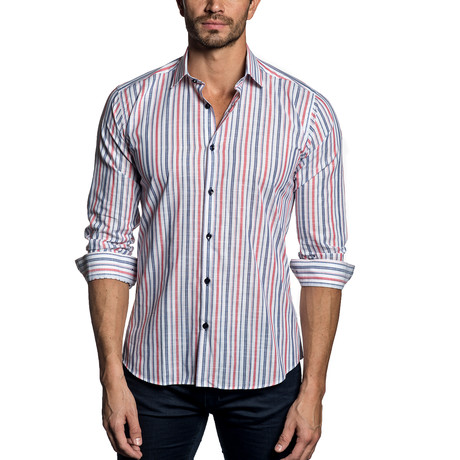 Woven Button-Up // Multi Stripe (S)