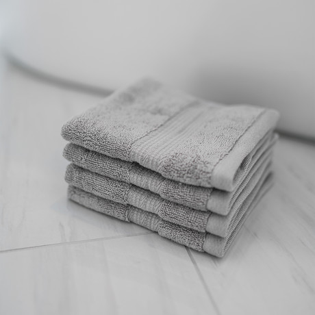 Alfred Sung Hotel Collection // Wash Cloth // Set of 4 (White)