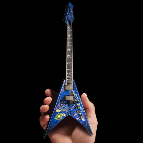 Dave Mustaine // Signature V Rust In Peace Mini Guitar Replica
