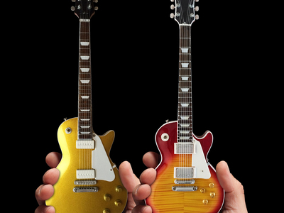 Classic_Electric_Sunburst__Classic_Goldtop_Finish_Mini_Guitar_Replicas