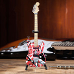 Van Halen // EVH + Michael Anthony Mini Guitar Replicas // Set Of 2
