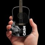 Johnny Cash // Photo Tribute Mini Acoustic Guitar Replica