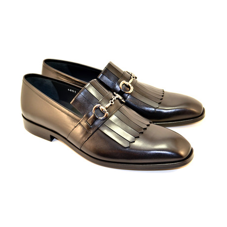 Kiltie Buckle Loafer // Black (US: 7)