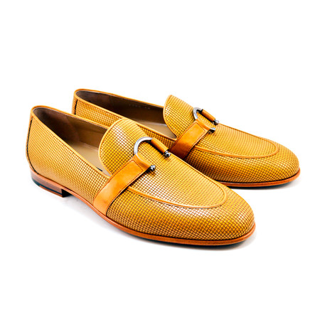 Woven Laether Loafer // Camel (US: 7)