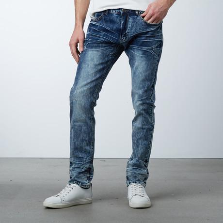 Acid Wash Creased Jeans // Tint