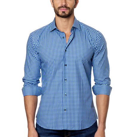 Woven Button-Up // Blue Gingham (S)