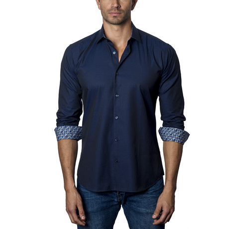 Woven Button-Up II // Navy (S)