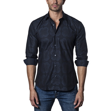 Woven Button-Up IV // Navy (S)