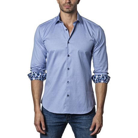Woven Button-Up II // Blue (S)