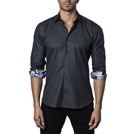 Woven Button-Up III // Black (S)