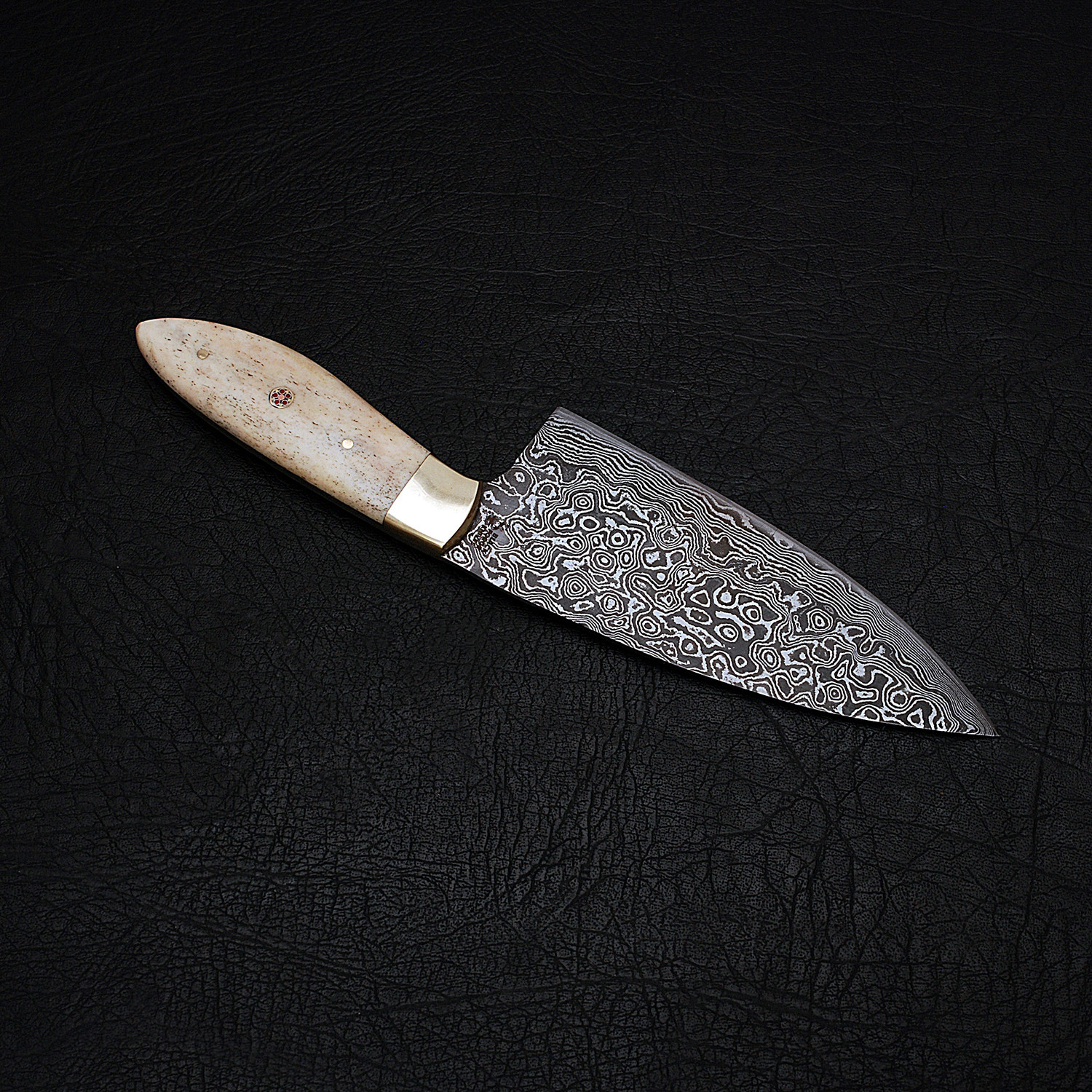 damascus kitchen knife // 9173 - black forge knives