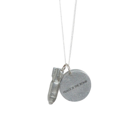 Peace Is The Bomb Necklace